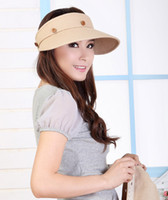 Wholesale Noble women s fashion sunhats caps wide brim hats beach hats uv protection summer hats foldable caps
