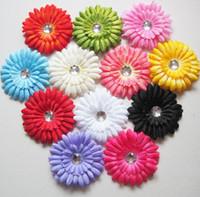 "Hair Clips Linen flower head 100p 11.5cm 4.5"" Daisy Flower Baby Hair clip,Baby Hair Weave,Baby Flower Hair Accessories"