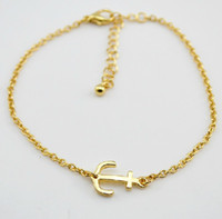 Wholesale Brand new anchor charm bracelet top fashion lady s exquisite bracelet high quality good price