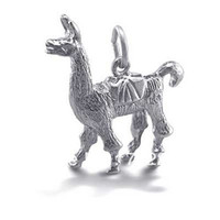 Wholesale a rhodium plated D alpaca charms jewelry accessory