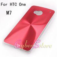 Wholesale 50pcs Luxury CD Aluminium Hard Back Case Cover for HTC One M7