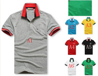 Men Polo Short Sleeve 2013 new brand lapel men's short-sleeved polo shirt size M-XXL 100% cotton drop shipping