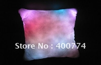 Wholesale LED pillow Colourful Romantic Led RGB Cushion led flashing pillow home doceration plush pillow