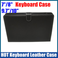 Wholesale 7 inch Keyboard leather case suit for inch Android Tablet PC Flytouch Ainol Sanei Pipo Onda laptop