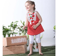 Christmas Girl 1-5 years old baby baby sets girls' suits outfits dot tee dresses T-shirt tights tank tops short pants leggings T116