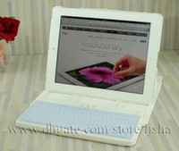 Wholesale Colorful Swirl Adjustable Slider Case with Wireless Bluetooth Keyboard For ipad amp ipad