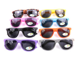 Wholesale 2013 New Fashion Boy Sunglasses Cool Square Frame Kids Sun Glasses UV400 Mix Colors