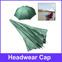 Wholesale Red Umbrella Hat Golf Fishing Camping Headwear Cap Green