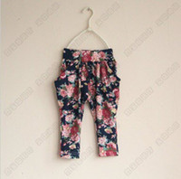 baby girl kids vintage soft cotton pants flower pants flower...