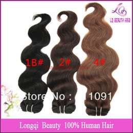 Wholesale Equick Express line4pcs Mix length brazilian hair body wave human hair extension