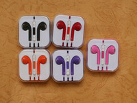 Wholesale Professional In Ear Earphones HD Earbuds with MIC Colors Headphones with Volumn Control for iPhone