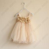 Baby girl kids petal floral tutu dress strap vest petti dres...
