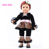Wholesale Doll Clothes leopard dress fits for quot American Girl Dolls girl birthday gift AGC