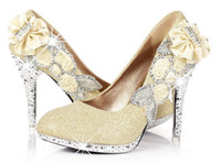 Wholesale Sparkling Diamond cm Heels Waterproof Prom Evening Party Dress Lady Bridal Wedding Shoes size34