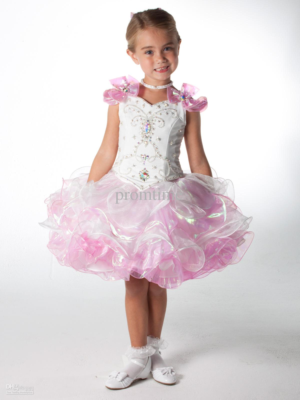 2013 Ball Gown Sparkling Beads Crystal Two Piece Girls Prom ...
