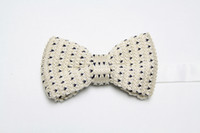 Wholesale Factory new Men Neck Knitted Bowtie Bow Tie Solid Color Pre Tied Adjustable Tuxedo Bowtie