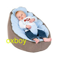 Wholesale blue seat baby beanbag chair kid snuggle beds sleeping bean bag sofa beds