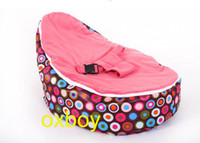 Wholesale colorful circles waterproof baby sleeping bean bag beds baby cot baby crib