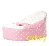 Wholesale pink dots baby toddler beanbag chair kid bean bag sofa