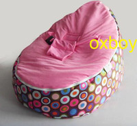 Wholesale waterproof multi circles baby beanbag chair kid sofa seat covers baby recliner