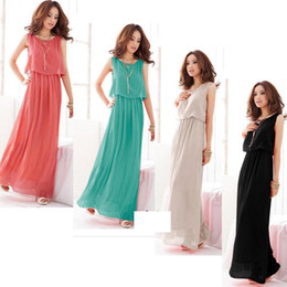 Wholesale 2013 Women Bohenmia Pleated Wave Lace Strap Princess Chiffon Maxi long dress Four Colours Adeal