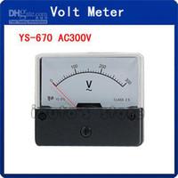 YS-670 AC 0-300V Прямоугольник Аналоговый Панель Вольт метр колеи