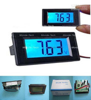 Digital Only Guangdong China (Mainland)  7.5V-20V Blue LCD Digital Voltmeter Volt Panel Meter free shipping NEW