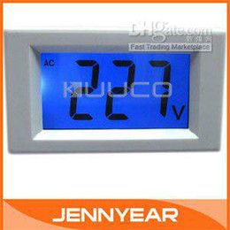 Wholesale Mini Digital Voltmeter Panel AC V Blue LCD Digital Alternating Voltage Meter Power Monitor