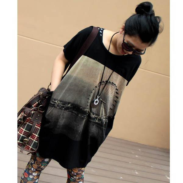 Pregnant women clothing loose large size Maternity long T-shirt skirt