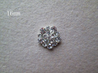Wholesale 16mm Hair accessories full shiny Rhinestone Buttons girls jewelry accessories