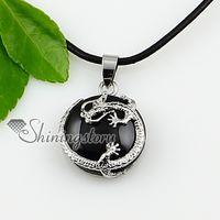 european precious stones - round dragon semi precious stone necklace birthstone jewelry natural stone pendant