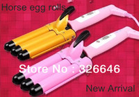 Wholesale Horse egg rolls stick hair roller turbe hair sticks mm Large mm hairdressing tool pink gold pink