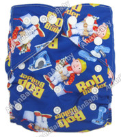 Wholesale AnAnbaby Jctrade Cartoon Nappies Pocket Reusable Baby Cloth Diapers With One Microfiber Insert