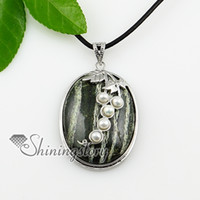 ovalada hoja semi piedras preciosas collares de piedra de nacimiento de la joyería China vuelos de joyería de moda de joyería