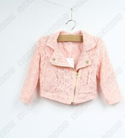 Wholesale 2013 Baby Girls Pink Lace Hollow Out Long Sleeve Jacekets Girls Coat Children Winter Clothing