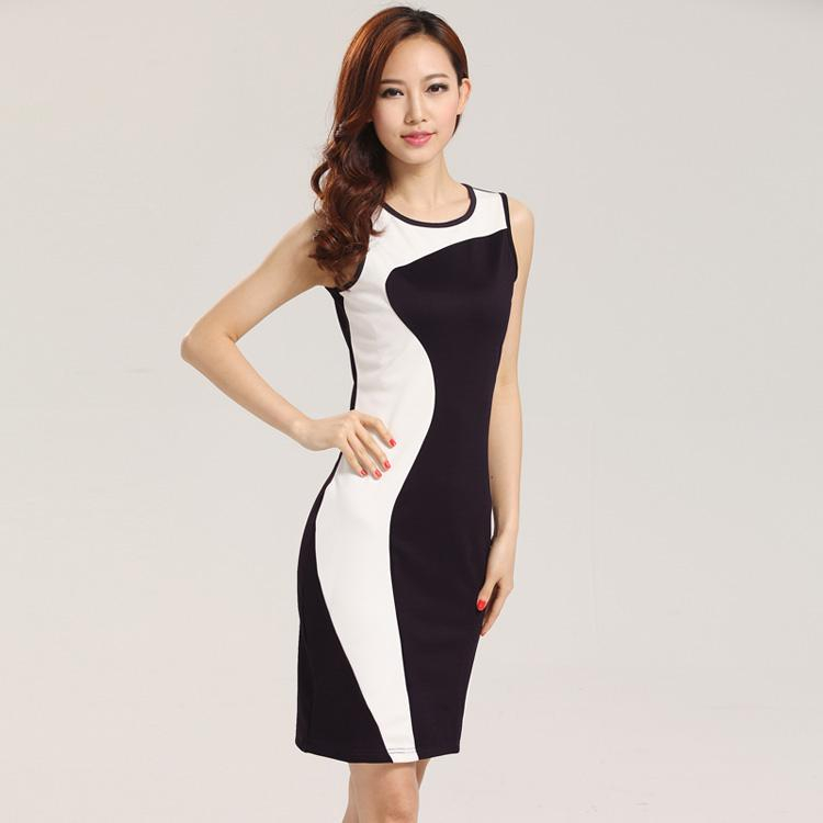 Women Fashion Dress Geometric Design Casual Work Dresses New OL ...
