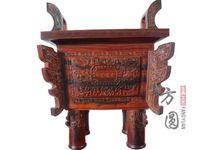 Wholesale siyan Rosewood wood carving santalwood ovens dalbergia incense burner decoration classical crafts gift