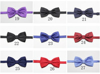 age business - Mens Bow Ties Deluxe Polysatin Many Colors Adjustable for ages Neck Tie