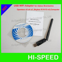 Wholesale WIFI For Azbox Bravissimo Wireless WIFI USB Adapter For Skybox F3 F4 F5 M3 Openbox X3 X4 X5 WIFI