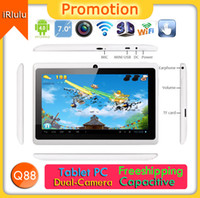 "Black White Q88 7"" Inch Android 4. 2 Tablet PC Allwinner..."