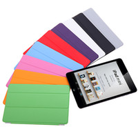 Wholesale 7 quot Slim Smart PU Leather Magnetic Case Cover with Stand sleep wake function for ipad mini C1596