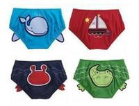 Small 2T-3T Swim Trunks wholesale- baby boys cute cartoon swimwear pants swimming pants shorts 20pcs lot