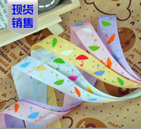 Wholesale fashion quot mm color love umbrella yards children Hair Bow DIY grosgrain stitched ribbons