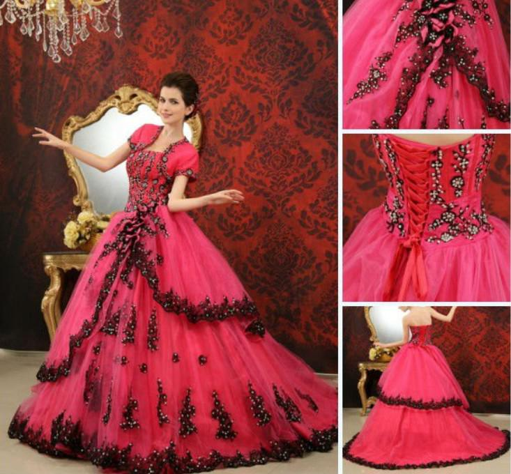 Cheap Red And Black Wedding Dresses - Wedding Short Dresses