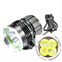 Wholesale 1 Set SKY RAY T6 Lumen xT6 Cree XM L T6 Mode Led Bicycle light Set T6 Bike Light