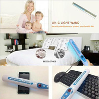 air disinfector - Portable UV Sanitizer Hand Wand Ultra Violet Light Kill Bacteria Germ Sterilizer UVC Air Disinfector