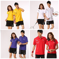 Wholesale sports amp outdoors badminton clothing Suit lovers wicking stretch fabric sportwear
