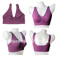 Nylon Full Cup Normal Free shipping New Women's Sport Bra Sexy Purple Sports Bra Size S XL Without Pads Hot Sale