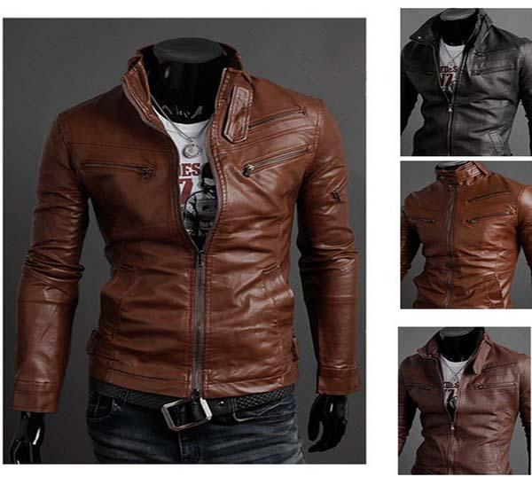 Hot Sale High Quality New Korean Catwalks Men Leather Jacket Shall Slim Leather Jacket Pu Free Shipp From Maturewomen, $46.08 | Dhgate.Com