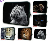 14'' Sleeve Neoprene Colorful 14 inch laptop case waterproof soft sleeve bag Animal King image printed on both sides free shipping mixorder drop shop